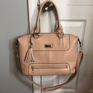 Light pink tote purse